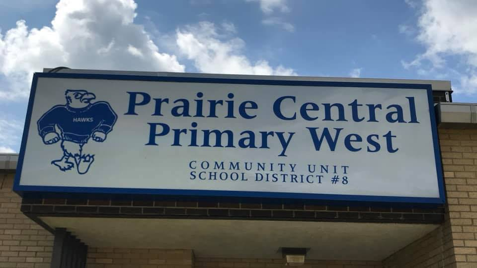 Prairie Central Primary West Sign