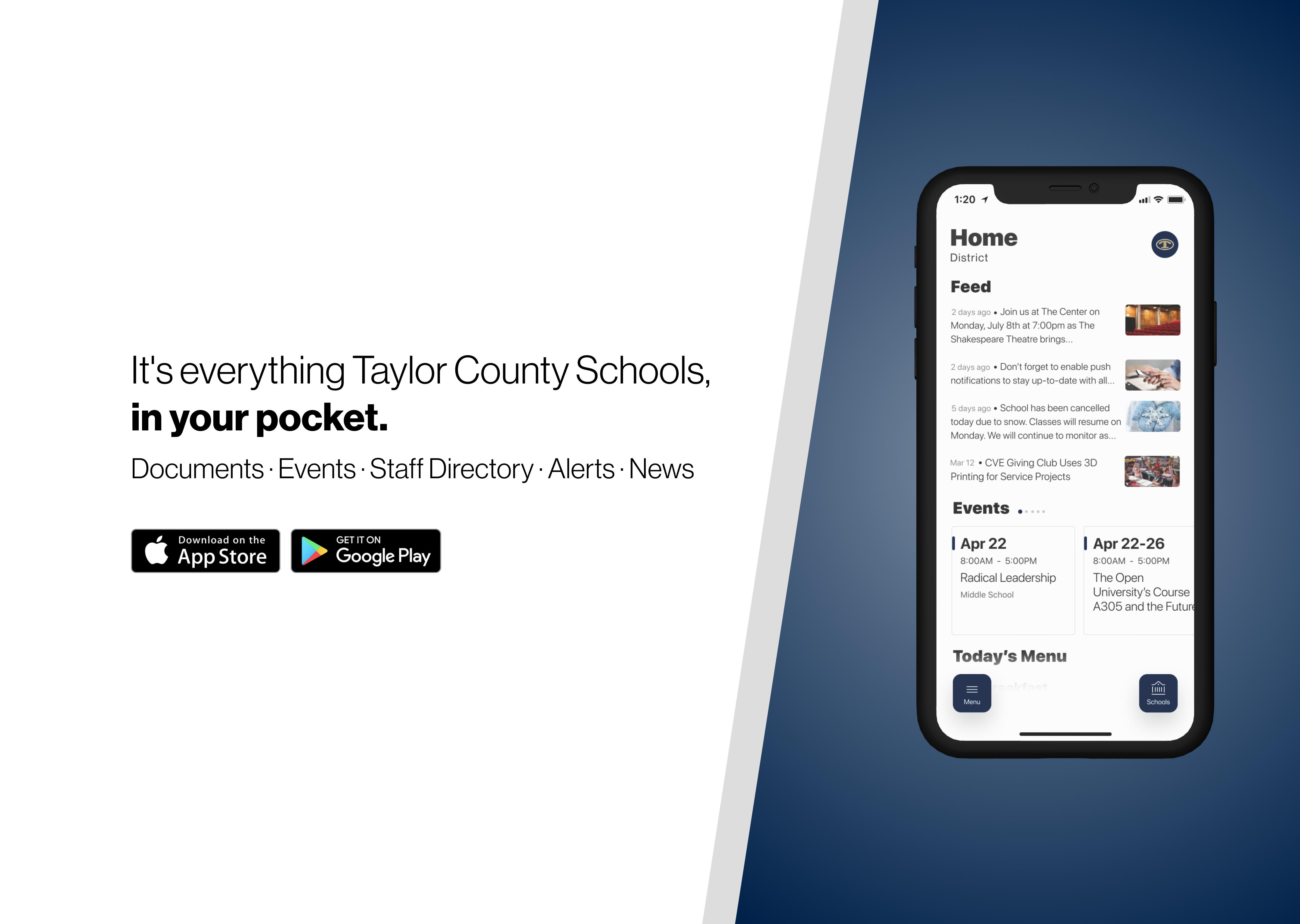 Download our school app!