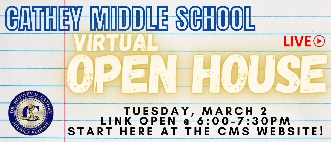 Open House March 2nd 6-7:30