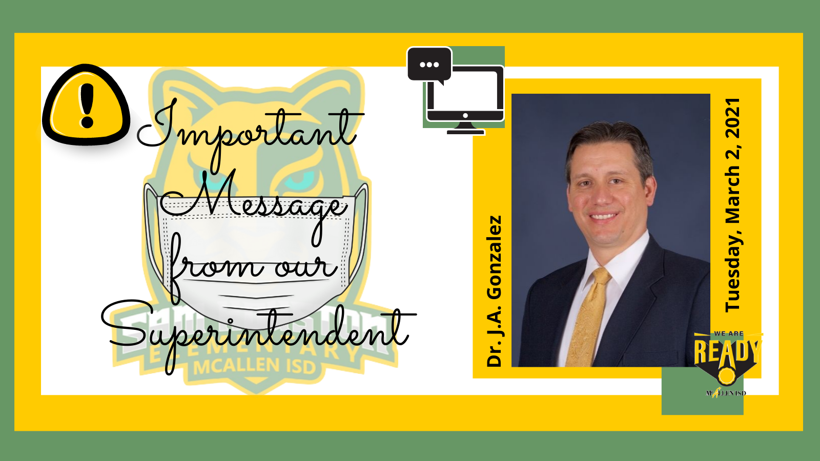 Message from Superintendent