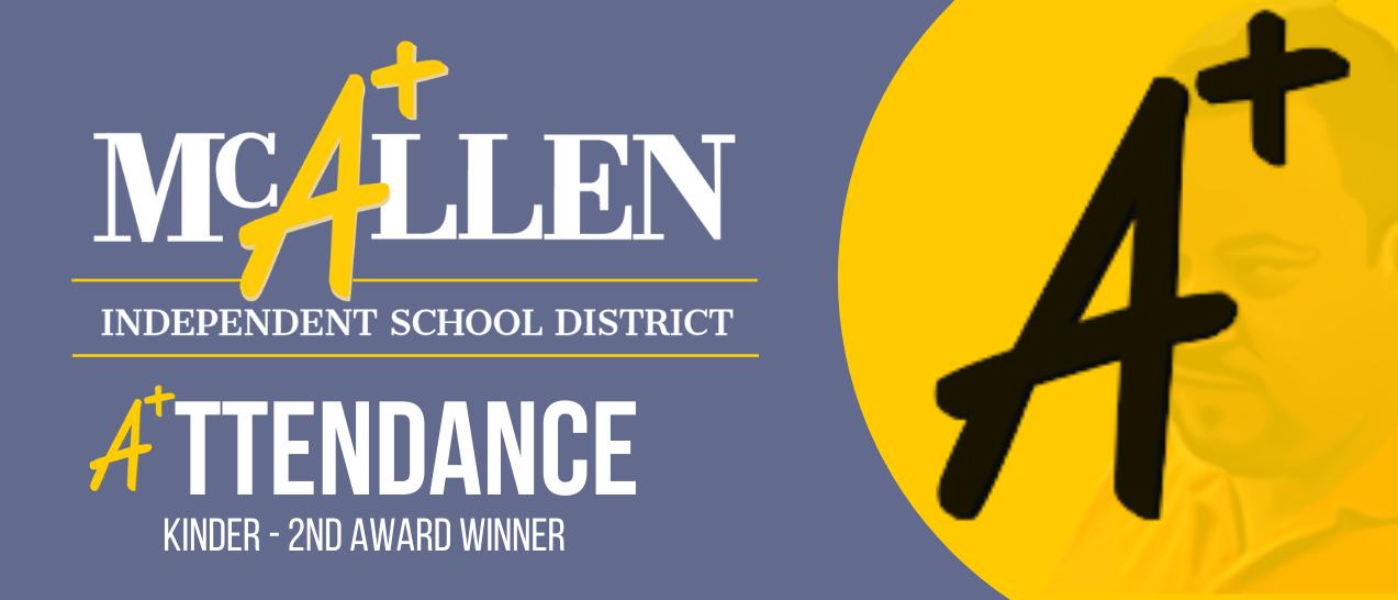 Kinder - 2nd grade attendance winner