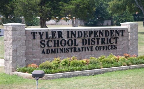 Tyler ISD Administrative Offices sign