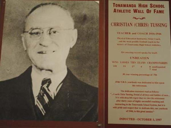 Photo of Christian (Chris) Tussing, Teacher & Coach from 1916-1946.
