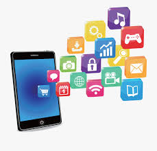 image of a tablet with applications.