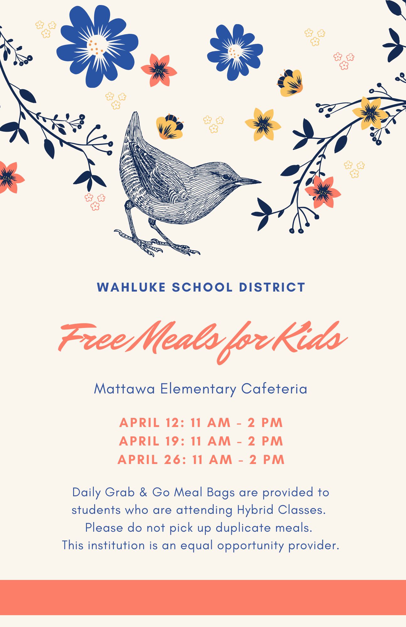 meal distribution schedules