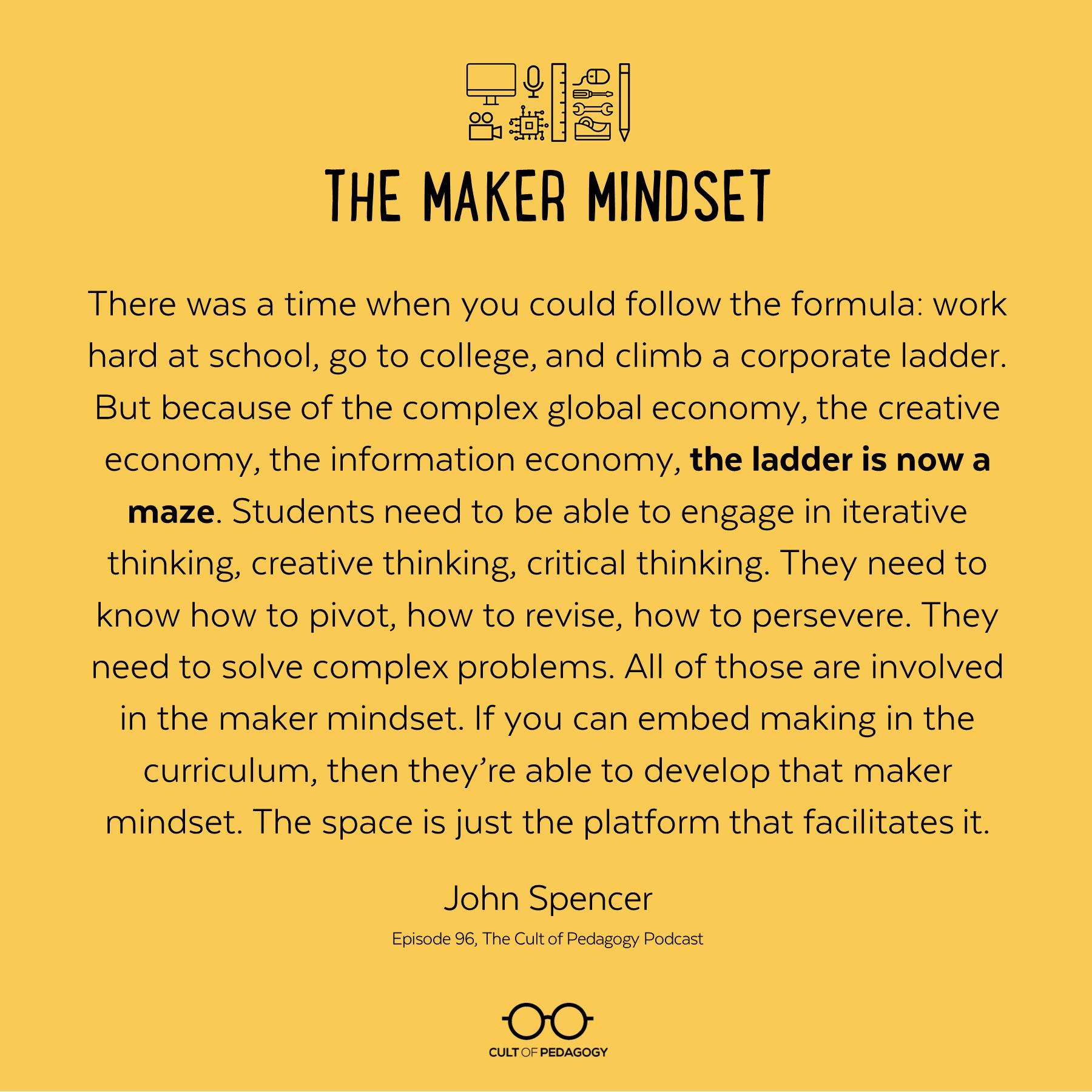 Maker Mindset Quote