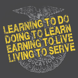 FFA Motto: Learning to do, doing to learn, earning to live, living to serve.