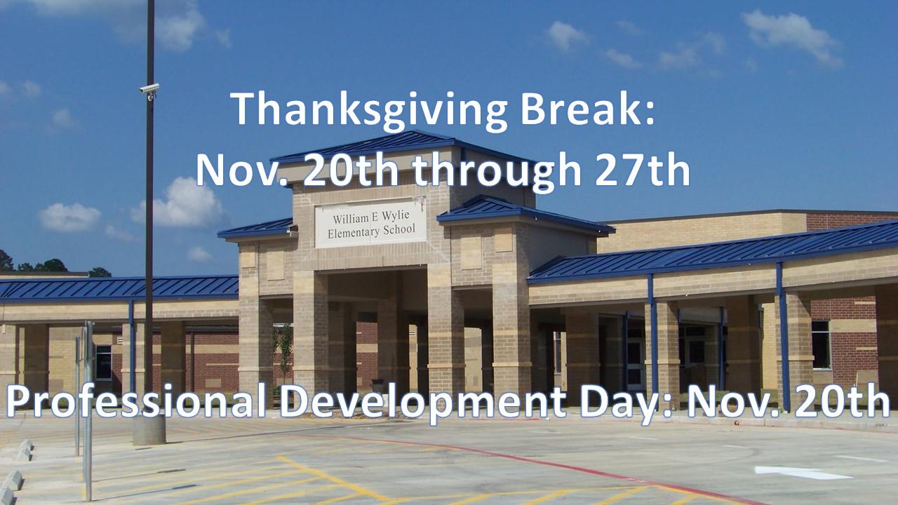 Thanksgiving Break is coming!