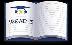 IREAD-3 clipart written in a blank book