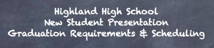 HHS New Student Presentation