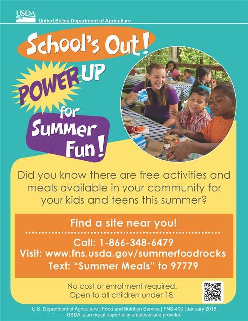 Summer food service flyer,