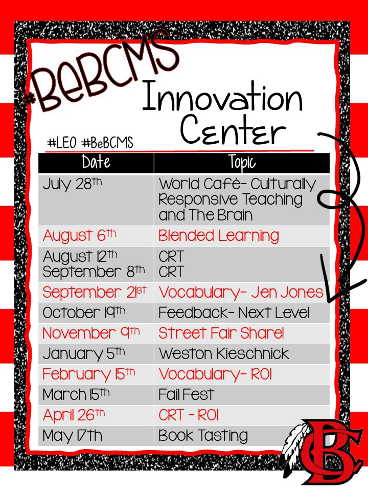 Innovation Center Dates
