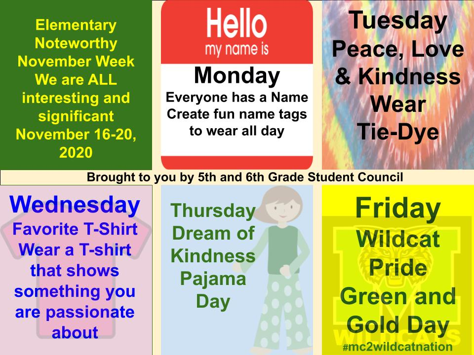 November Dress Up Days