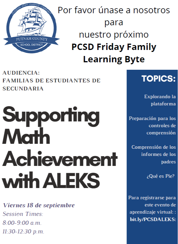 Supporting Math Achievement with ALEKS (Spanish)
