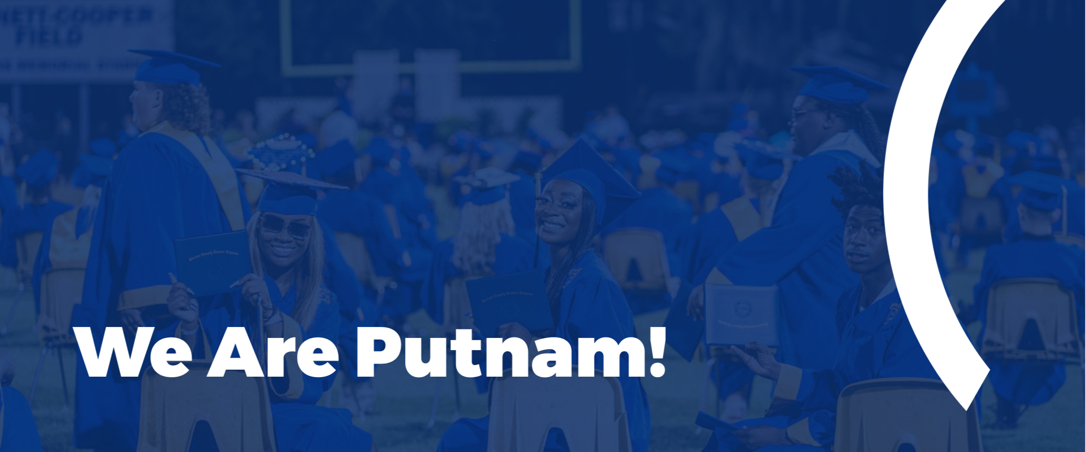 we are putnam section cover image: students smiling