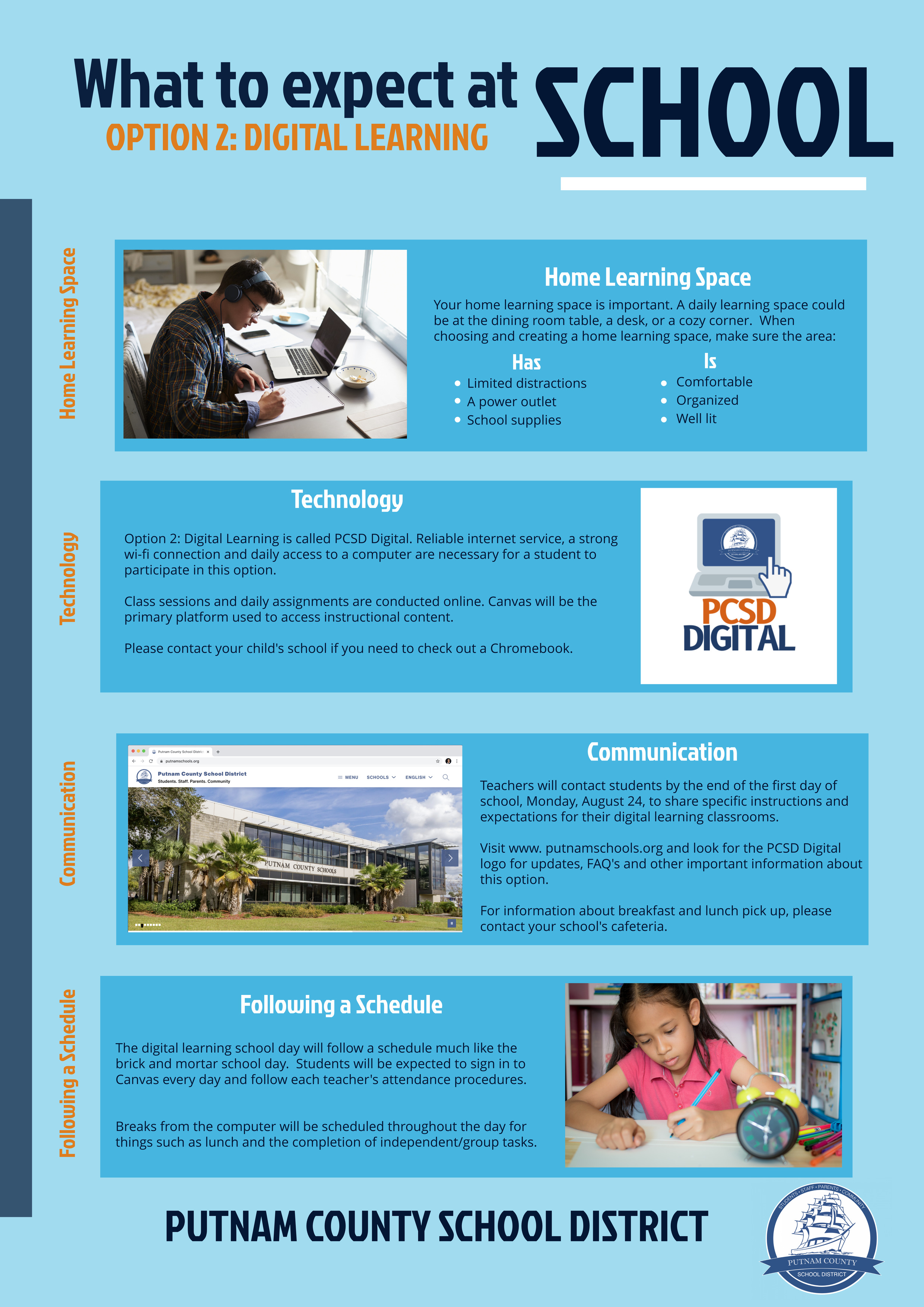 What to Expect: Digital Learning Flyer