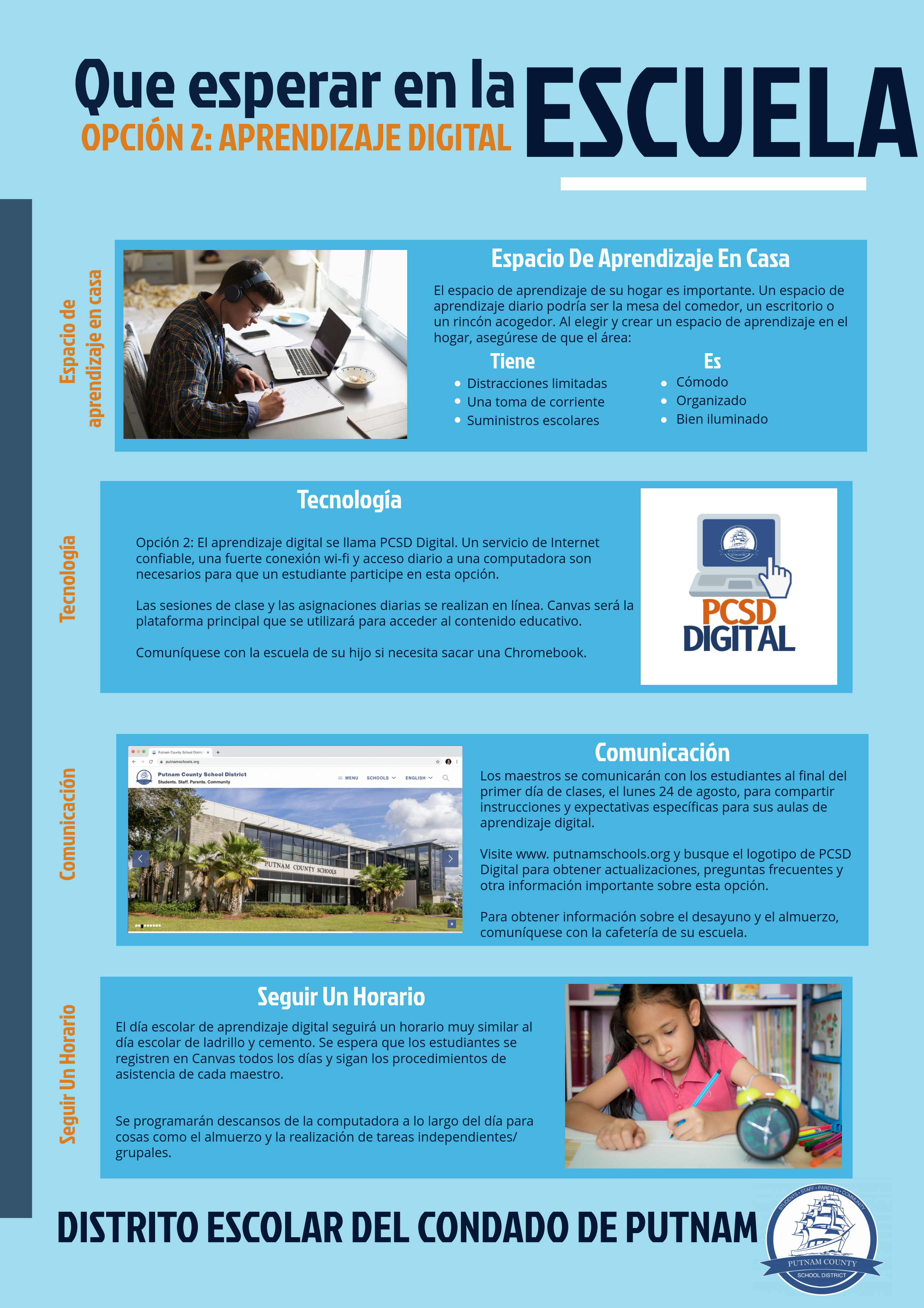 What to Expect: Digital Learning Flyer (Spanish)