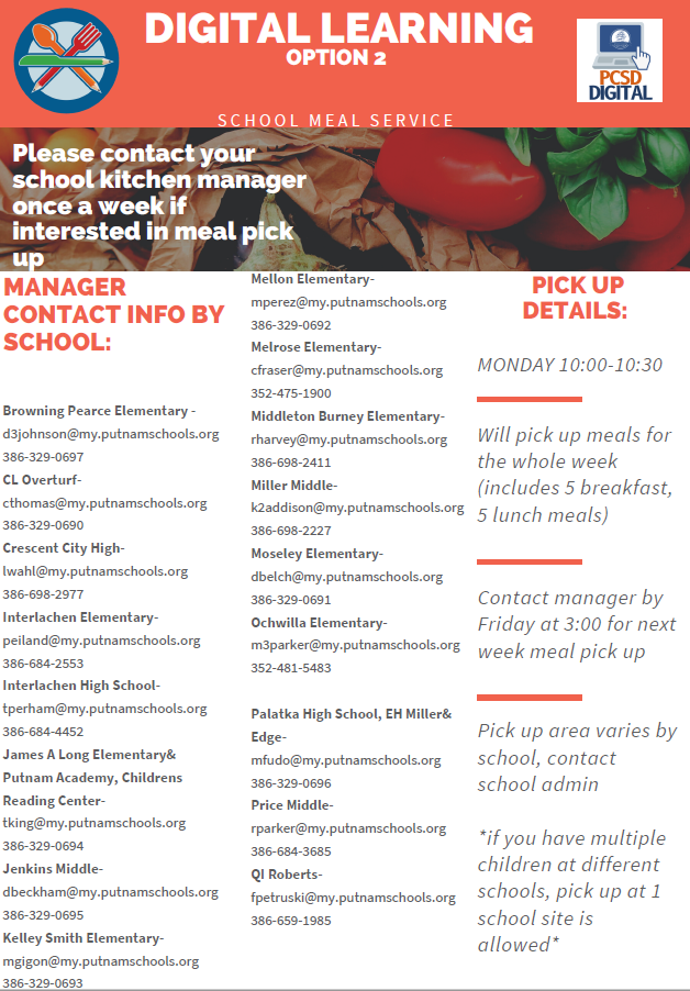 PCSD Digital Meals Flyer