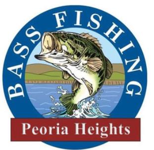 BASS FISHING PEORIA HEIGHTS LOGO