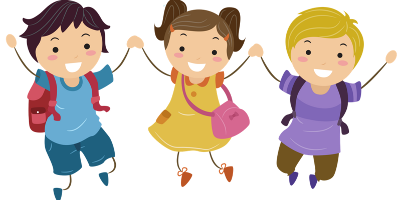 clipart of 3 kids