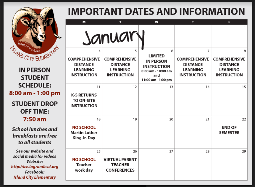 January Important Dates