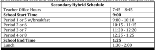 In-Person Daily Schedule