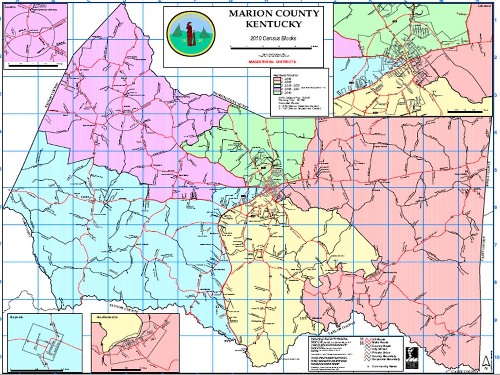marion county kentucky map