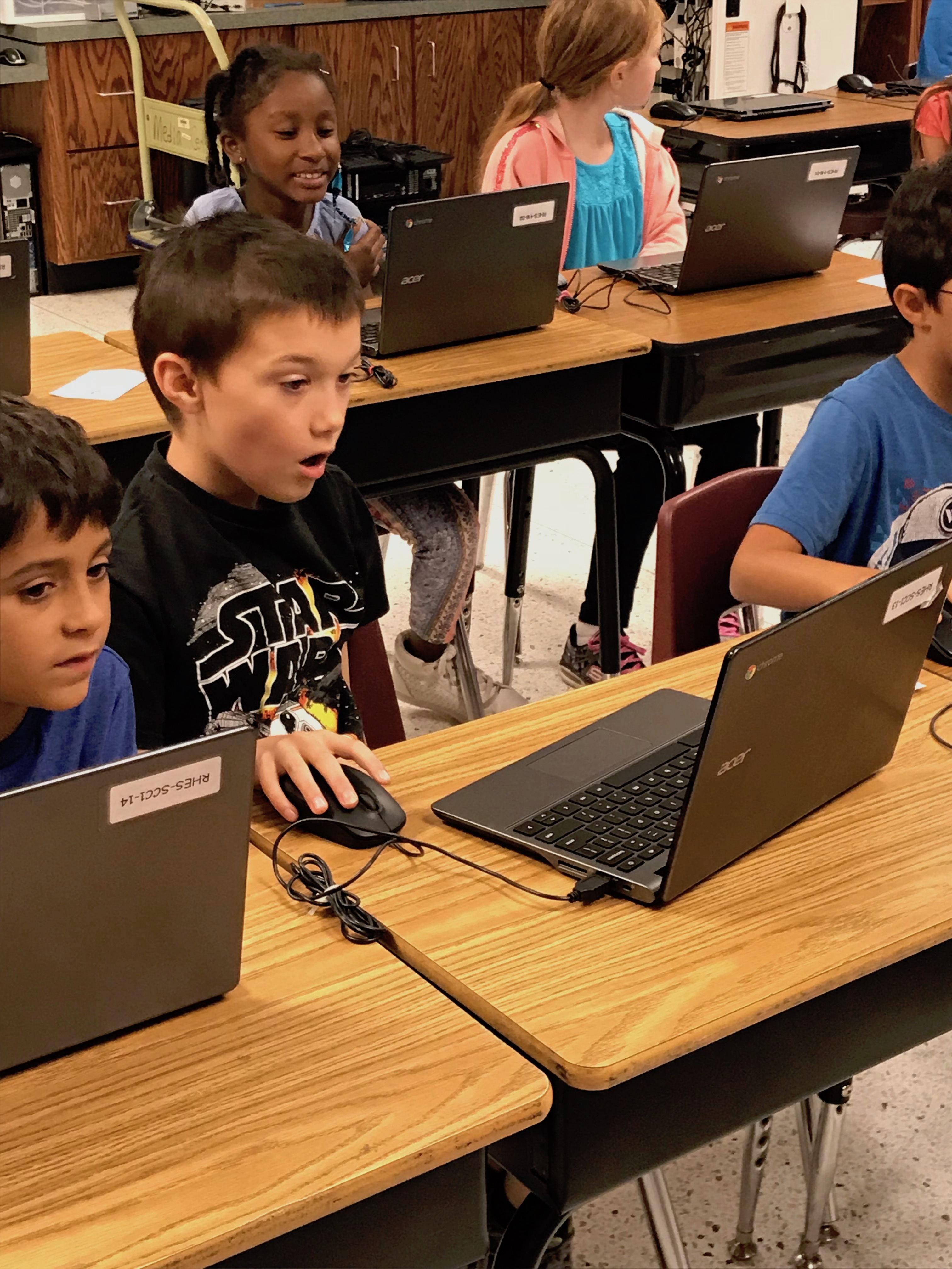 kid on a laptop