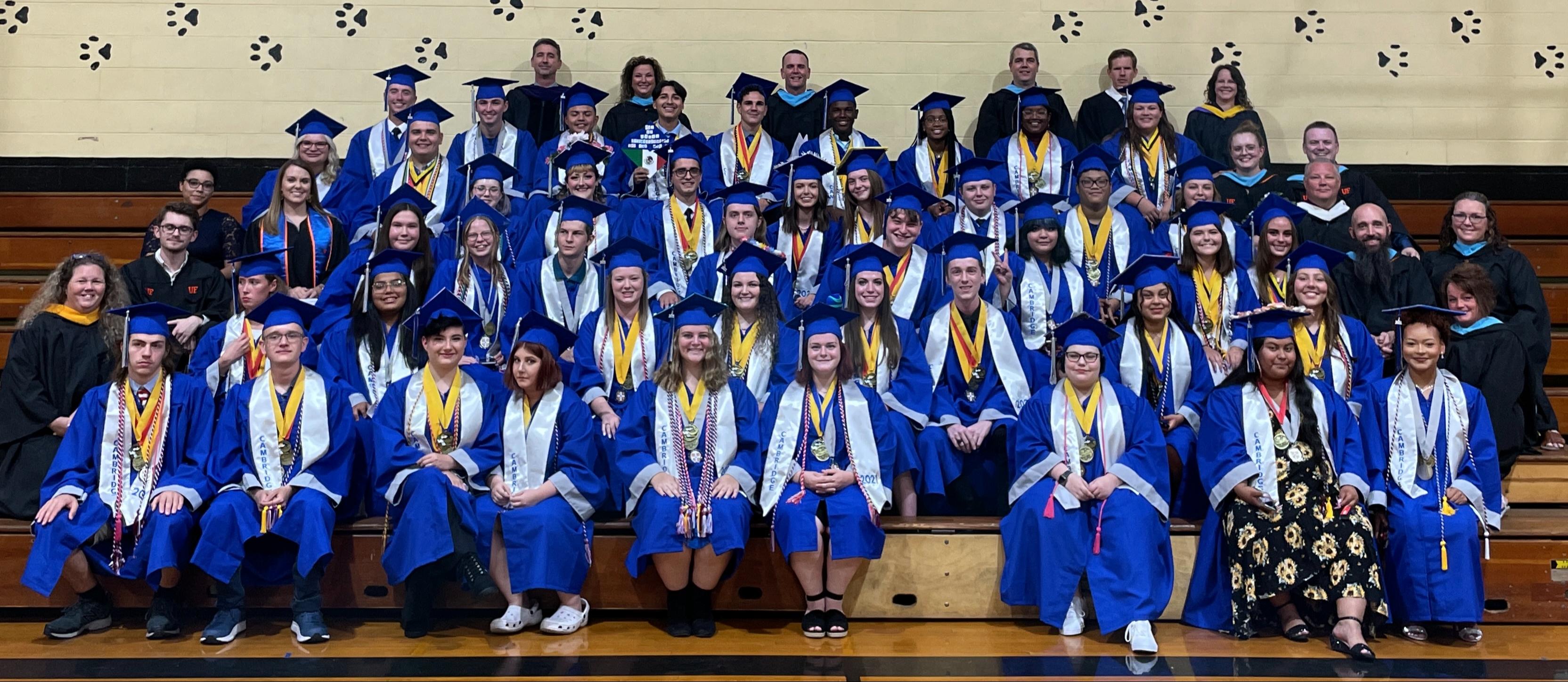 Senior class and staff