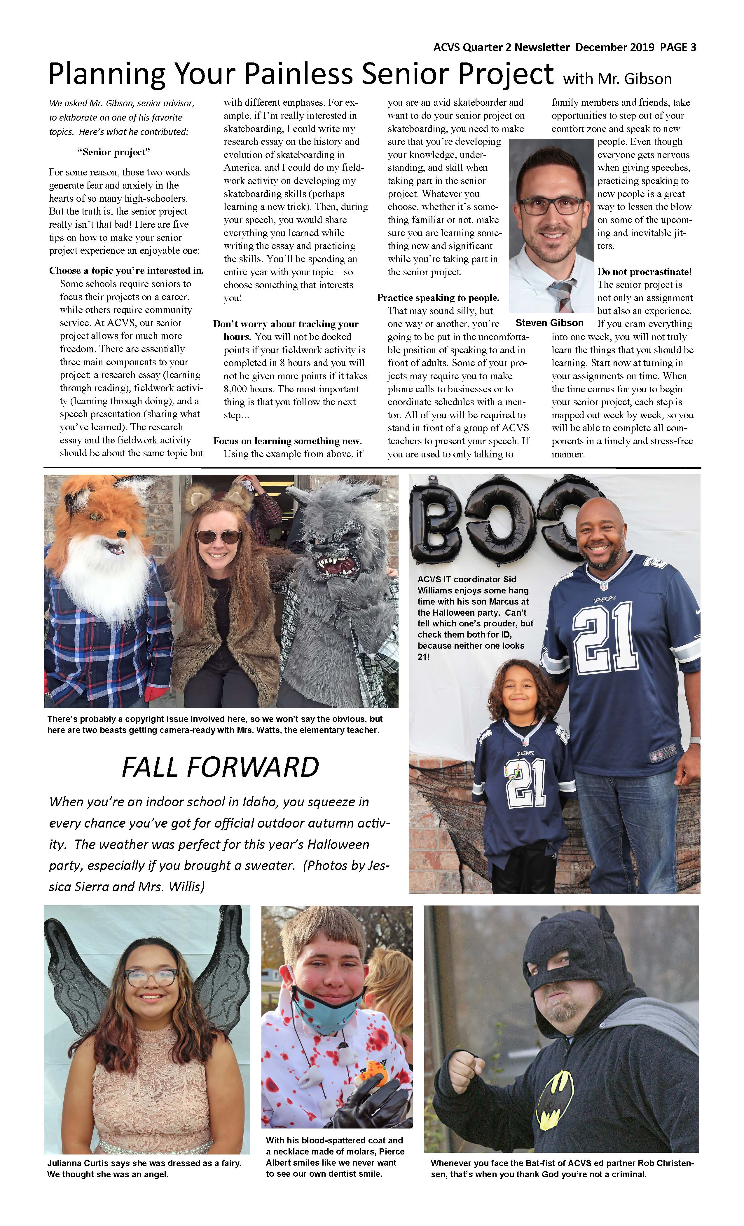 ACVS News Letter Page 3