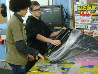 DustyG and Evan installing the other sliders Bobbie and Lupita taught them how