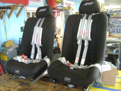 Seats and harnesses... Simpson and PRP.. what a combo