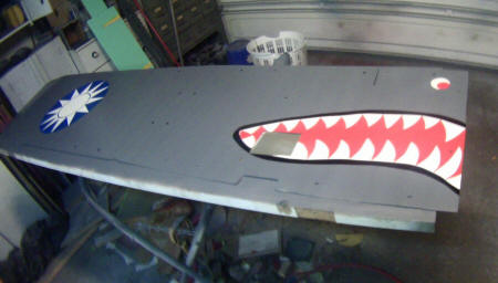 P40 panels with AVG star and Flying Tiger signature teeth thanks Sandman and DAD for all your help!