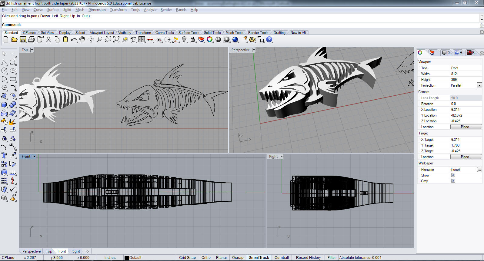 RHINO CAD 6.0  RHINO CAD 6.0 We use RHINO for 2d and 3D design to be printed in vinyl, ABSplastic, or steel.