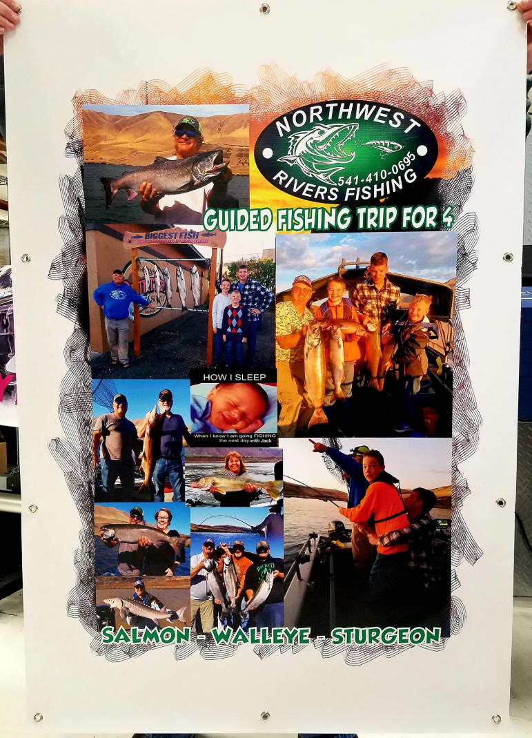 FULL color photo banner for Booster Club Auction