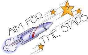 rocket blasting off into the stars