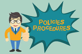 Policies Procedures sign