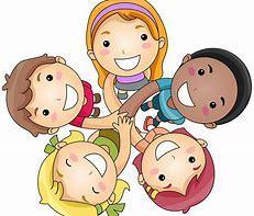 cartoon picture of kids huddling