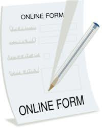 clipart of an online form