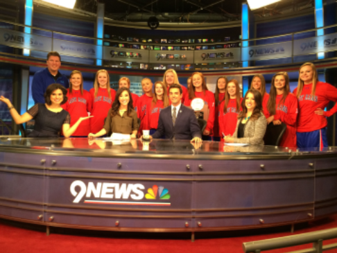 students at a news station