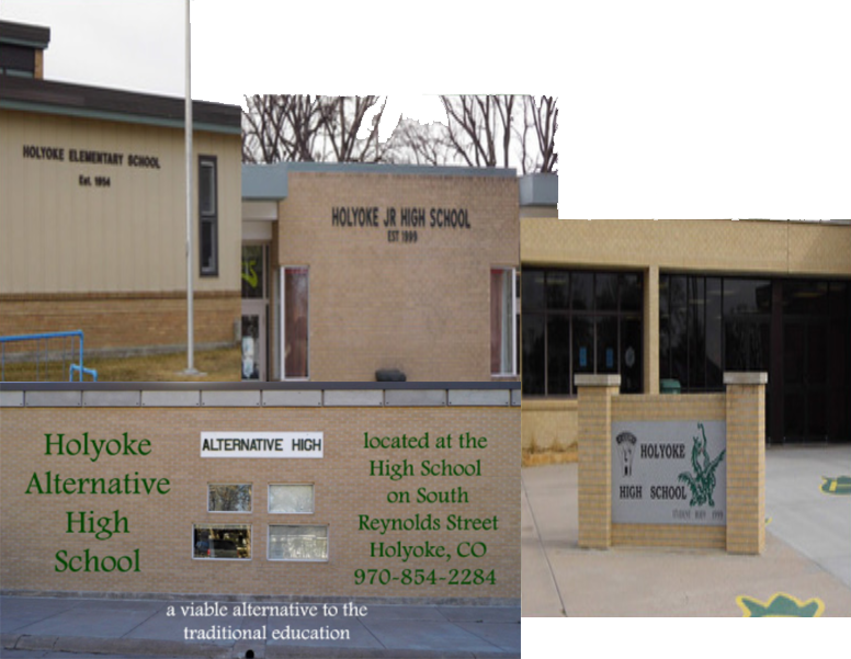 Collage of the school building