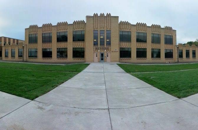 front of Revere school