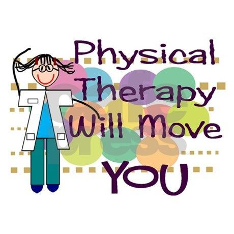 cartoon graphic of physical therapist