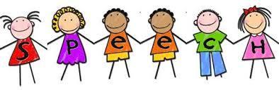 cartoon of kids forming the word speech