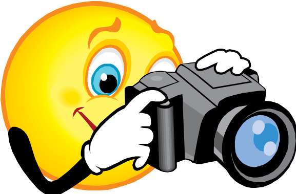 happy face with camera