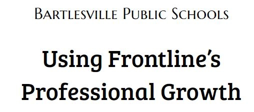 Using Frontline's Professional Growth