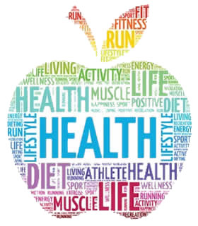 health and wellness word cloud