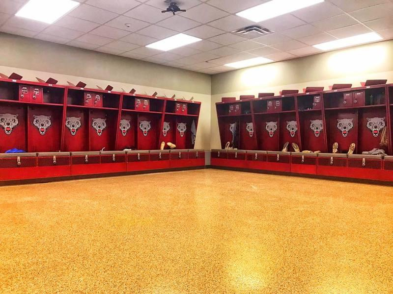 photo of a locker room