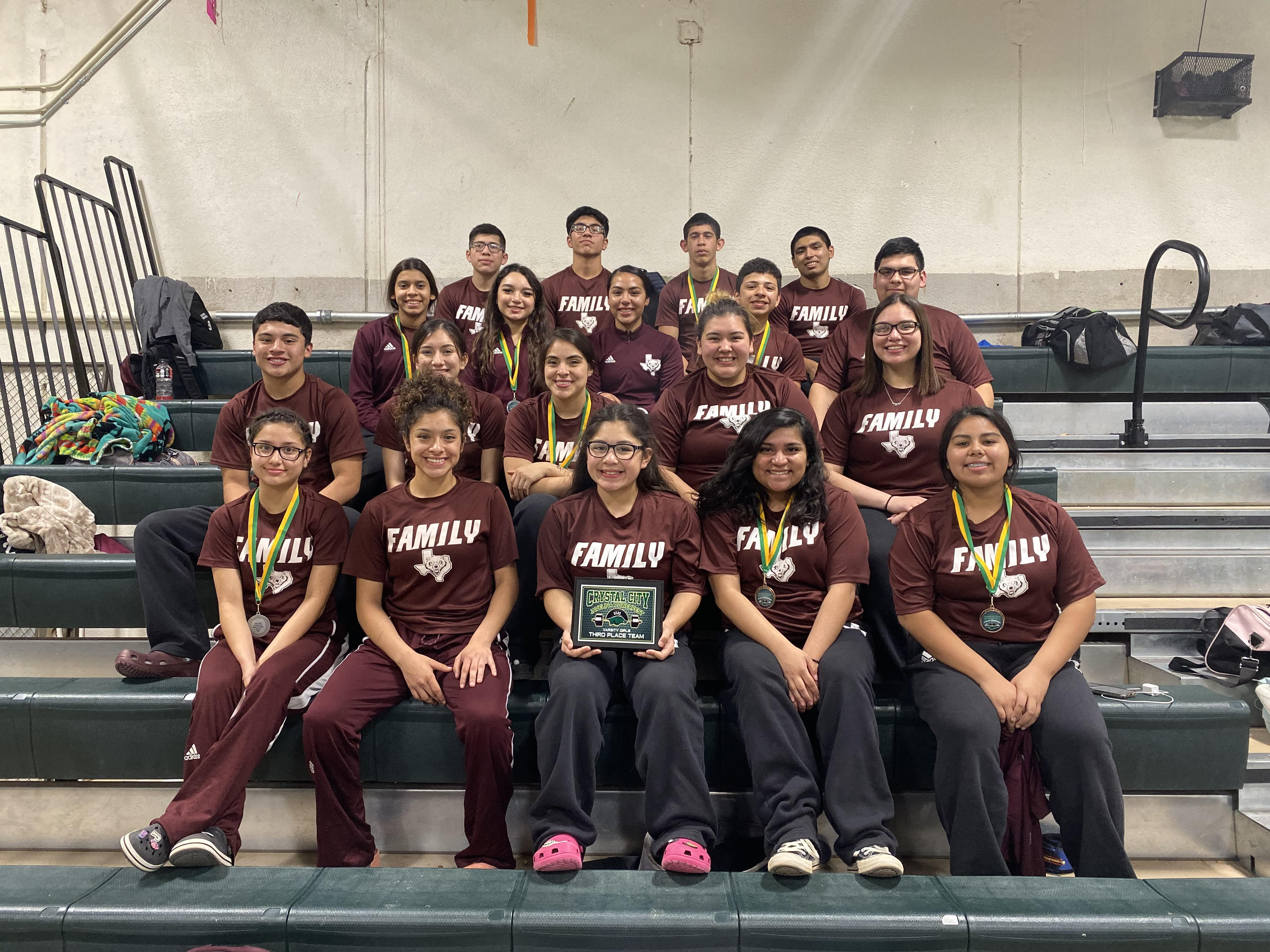 photo of the powerlifting team