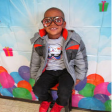 Little boy with silly sunglasses